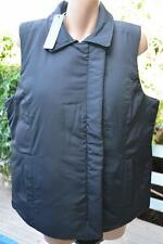 SUSSAN Black PUFFA VEST Covered Zip Front Size 18 NEW rrp $99.95. High Neckline.