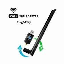 WiFi Adapter 600mbps,Techkey Wireless USB Adapter Dual Band 2.4GHz/5.8GHz LAN...