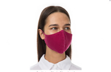 REUSABLE FACE MASK Covering OEKO-TEX 100% LINEN Fuchsia ONE SIZE UNISEX 4 Layers
