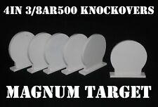 4in AR500 Knock-over Shooting Targets - 3/8 Rifle Targets - 6pc Steel Target Set