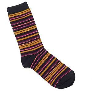 Missoni Womens Socks Target Exclusive 2011 Stripes Purple Pink Black NOS