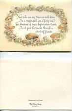 VINTAGE DANISH CONE COOKIE RECIPE PRINT 1 MUSHROOM FAIRY RING MAGIC SPELL CARD