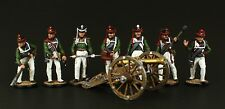 Elite: Russian Artillery crew and cannon Tin toy soldier 54 mm, metal sculpture