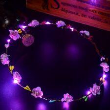 LED Blumen Kranz Haarband Haarkranz Stirnband Haarschmuck Party Hochzeit ER