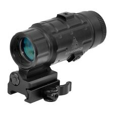 UTG Leapers 3X Magnifier with Flip-to-side QD Mount, W/E Adjustable SCP-MF3WEQS