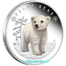 Australia Tuvalu 2017 Polar Babies Polar Bear 1/2oz Silver Proof Coin Perth Mint