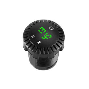 12V-24V Marine Car RV Clock Refit Interior LED Luminous Circular Time Display