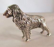 Miniatura statuina argento cane Cocker fatta a mano argento 800 gr 42