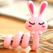 Fd2397 Cartoon Earphone Headphone Cable Cord Organize Wrap Wind ~Rabbit~ 1pc A