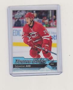 2016-17 SEBASTIAN AHO   # 210 UPPER DECK YOUNG GUNS ROOKIE  NO- 165