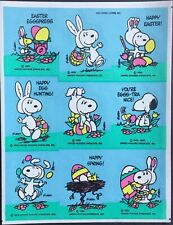 Mint Condition!! Hallmark Vintage Stickers Snoopy Easter