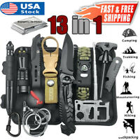 13 in 1 Emergency Survival Tools Kit Outdoor Hunting Camping Military EDC Gear