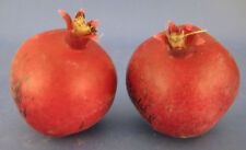 Faux Fake Fruit 2 Pomegranates Red Plastic Decorative Staging Prop