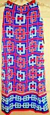 Size Petite/Petite NWT CROWN & IVY Ladies  Geometric Blues, Pink & Peach  Dress