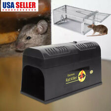 Electronic/ Metal Mouse Trap Mice Killer Rat Pest Control Electric Zapper Rodent