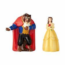 "Enesco Disney Beauty Belle and Beast Ceramic Salt & Pepper Shakers, 3.5"""