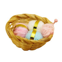 1:12 scale Dollhouse Miniature Wool line Basket model Dollhouse accessories X7Z9