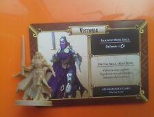 Victoria asesino masiva oscuridad Boardgame figura de pieza de repuesto asistente de tarjeta de &