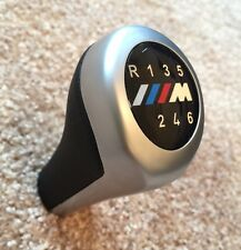 Silver 6 Speed Gear Shift Knob For BMW M 1 3 4 5 6 Series E36 E65 E81 E87 E90 M3
