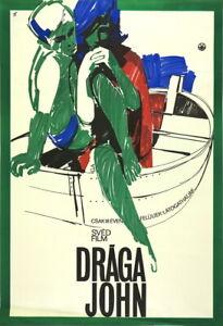 Vtg Orig Movie Poster DRÁGA JOHN / DEAR JOHN Gunda Antal 1966 Swedish