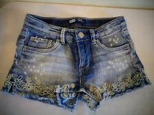 Levi Denim Jean Shorts Shorty Short Girl'S Size 10 Reg Vintage Worn Look Flowers