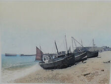 Hastings.  Framed coloured etching 123/250 by Ashley D Bolch (1950-2016)