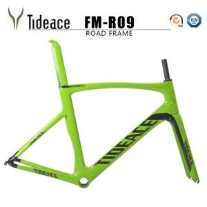 Aero 700C Road Racing Carbon Fiber Bike Frames PF30 Green Tideace OEM Frame