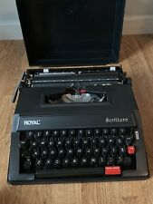 Royal Scrittore Portable Manual Typewriter -Used-Great Condition-with Case