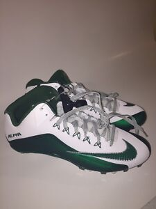NIKE ALPHA PRO 2 MID TD MEN'S FOOTBALL CLEATS 719935-133 MSRP $95 Size 14
