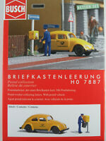 """Busch H0 7887 ACTION SET """"Briefkastenleerung"""" mit VW Käfer 1:87/H0 NEU/OVP"""