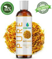 Safflower Oil 4 oz Cold Pressed 100% Pure Organic Refined For Skin Hair Massage