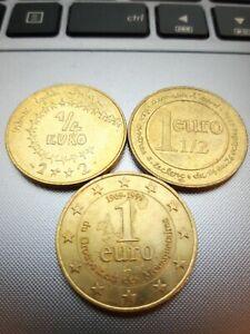 Monnaie 1/4 1 euro 1/2 1 Euro