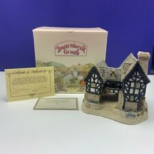 David Winter cottage figurine sculpture Hine nib box coa Tudor Manor House 1981