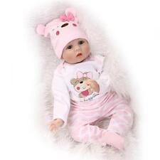 ON SALE 22'' Handmade Baby Girl Doll Silicone Vinyl Reborn Newborn Dolls+Clothes