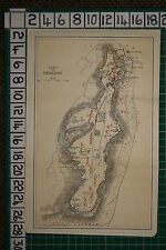 ANTIQUE INDIA MAP ~ FORT OF GWALIOR PLAN BALA KILA TELI-KA MANDIR TEMPLE GATES