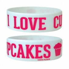 I Love Cupcakes Wristband. NEW. Rubber / Silicone. Great for festivals. Bracelet