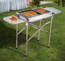 Outsunny Stainless Steel Griddle Charcoal Barbecues