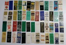 Lot of 52 Vintage Matchbook Covers Resturants Motels Shoes Laundry Trucking Bait