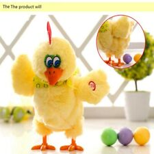 Laying Eggs Chicken Plush toy Electric Hen Musical Dancing Baby Gifts US STOCK