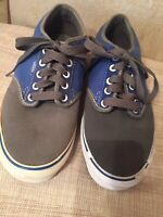Vans Sneakers Off The Wall Mens Size 8 Gray Canvas Low Top Skate Shoes