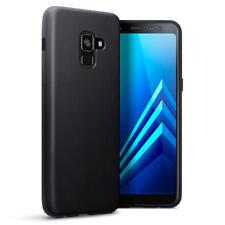 Étuis, housses et coques noirs Pour Samsung Galaxy A8 en silicone, caoutchouc, gel pour téléphone mobile et assistant personnel (PDA)