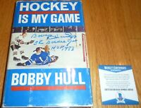 BECKETT BOBBY HULL HOF 1983-THE GOLDEN JET SIGNED HOCKEY IS MY GAME H/C BOOK 342