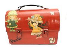 Vintage Lunch Box Purse Adorable Girly Appliqué 1970'S Paula  Kitten