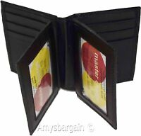 Women men's Leather Credit case, 12 Cards, 3 ID credit card holder New #774