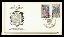 DR WHO 1977 ANDORRA EUROPA CEPT FDC C165565