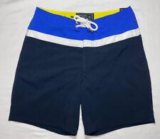 "NWT Abercrombie & Fitch Mens Swim Shorts Size 28 Inseam 7"" Blue White"