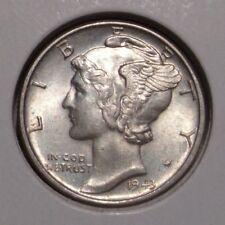 1943 Mercury Silver Dime , AU/BU