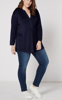 New Designer Long Sleeve Flattering Jersey Layer Top Plus Sizes 14-28 RRP £50