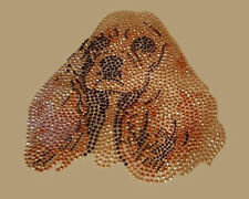 Cocker Spaniel Made with Beautiful Crystals Iron On Heat Transfer Last One