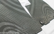 TOYOTA KLUGER FLOOR MATS FRONT RUBBER PAIR GSU5# FROM DEC 13 NEW GENUINE